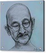 The Gandhi Head Acrylic Print