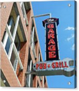 The Garage Pub Acrylic Print