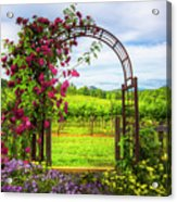 The Garden At The Winery Acrylic Print