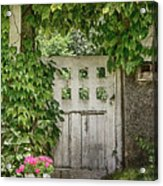 The Garden Door - V Acrylic Print
