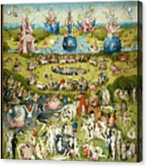 The Garden Of Earthly Delights 1490-1510 By Hieronymus Bosch Acrylic Print