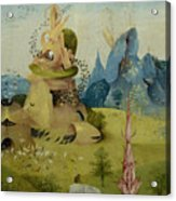 The Garden Of Earthly Delights, Detail Of Left Panel Showing Paradise Acrylic Print