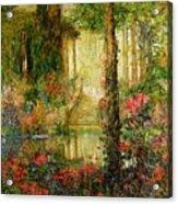 The Garden Of Enchantment Acrylic Print by Thomas Edwin Mostyn