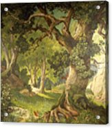 The Garden Of The Magician Klingsor, From The Parzival Cycle, Great Music Room Acrylic Print