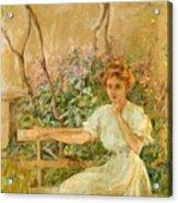 The Garden Seat 1911 Acrylic Print