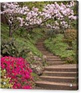 The Garden Steps Acrylic Print