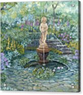 The Garden Triptych Middle Painting Acrylic Print