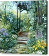 The Garden Triptych Right Side Acrylic Print