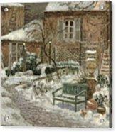 The Garden Under Snow Acrylic Print