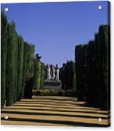 The Gardens Of The Alcazar Of Catholic Acrylic Print