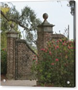 The Gate At Boone Hall Acrylic Print