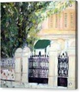 The Gatehouse At Villa Mariposa Acrylic Print