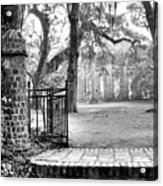The Gates Of The Old Sheldon Church Acrylic Print