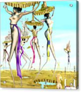 The Gathering Of Male Religious Symbols Two Acrylic Print