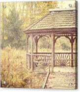 The Gazebo In The Woods Acrylic Print by Lisa Russo
