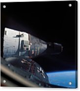 The Gemini 7 Spacecraft In Earth Orbit Acrylic Print