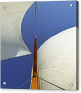 The Genoa And Mainsail Of A Classic Sailboat Acrylic Print