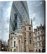 The Gherkin Acrylic Print by Donald Davis