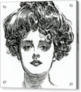 The Gibson Girl Acrylic Print