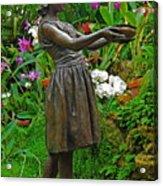 The Girl Among Orchids Acrylic Print