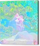 The Girl In The Pink Light Acrylic Print