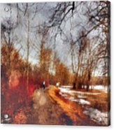 The Girl On The Path Acrylic Print
