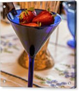 The Glass Of Strawberries Acrylic Print