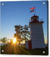 The Goderich Lighthouse At Sunset Acrylic Print
