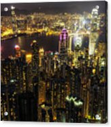 The Golden City Acrylic Print