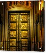 The Golden Door Acrylic Print