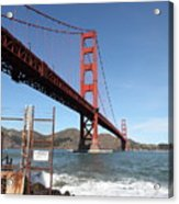 The Golden Gate Bridge At Fort Point - 5d21473 Acrylic Print