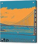 The Golden Gate Bridge In Sfo California Travel Poster 2 Acrylic Print