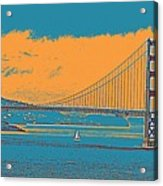 The Golden Gate Bridge In Sfo California Travel Poster Acrylic Print