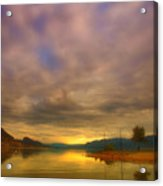 The Golden Glow Of Morning Acrylic Print