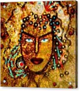 The Golden Goddess Acrylic Print
