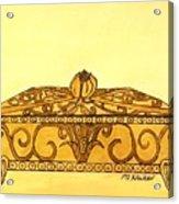 The Golden Jewelry Box Acrylic Print