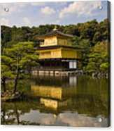 The Golden Pagoda In Kyoto Japan Acrylic Print