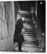 The Golden Saxophone Player Acrylic Print