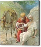 The Good Samaritan Acrylic Print by Ambrose Dudley
