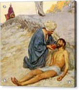 The Good Samaritan Acrylic Print by William Henry Margetson