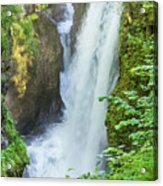 The Gorges Of The Langouette - 4 Acrylic Print