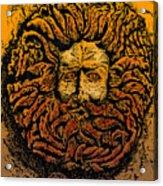 The Gorgon Man Celtic Snake Head Acrylic Print
