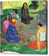The Gossipers Acrylic Print by Paul Gauguin