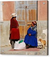 The Gossips Gossip Sitting In The Portal Were Counted Acrylic Print