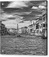 The Grand Canal Bw Acrylic Print