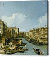 The Grand Canal Near The Rialto Bridge. Venice Acrylic Print