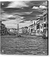 The Grand Canal - Paint Bw Acrylic Print
