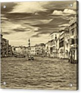 The Grand Canal - Paint Sepia Acrylic Print