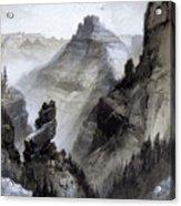 The Grand Canyon Drawing            Acrylic Print