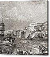 The Grand Harbour, Valetta, Malta After Acrylic Print